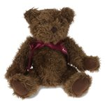 Classic Bear w/ Ribbon - Dark Brown