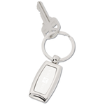 Curved Metal Keychain