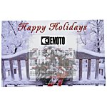 Greeting Card with Magnetic Calendar - Winter
