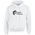 Gildan 50/50 Hooded Sweatshirt - Screen - White