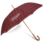 totes Automatic Stick Umbrella - Plaid