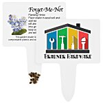 Compostable Seed Stakes - Forget Me Not