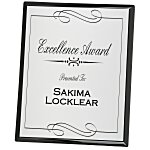 Black Finished Plaque with Aluminum Plate - 10