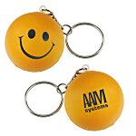 Smiley Face Mood Stress Keychain