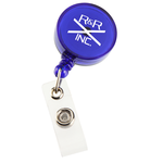 Economy Retractable Badge Holder - Round - Translucent