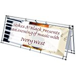 A-Frame Pro Outdoor Banner Sign - 8'