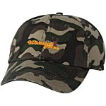 Bio-Washed Cap - Camo - Embroidered