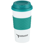 Color Banded Classic Coffee Cup - 16 oz. - 24 hr