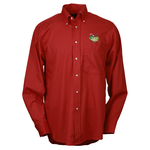 Soil Release Button Down LS Poplin Shirt - Men's