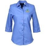 Soft Collar 3/4 Sleeve Poplin Shirt – Ladies'