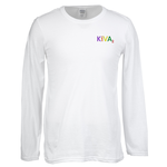 Gildan SoftStyle LS T-Shirt - Men's - Embroidered - White