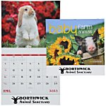 Baby Farm Animals Calendar - Stapled