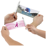 Banner Pen - Pink Ribbon - Rainbow