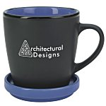 Double-up Mug with Coaster - Black - 12 oz.