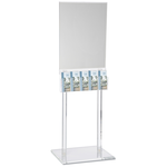 Floor Poster Stand with 5 Pockets - Clear