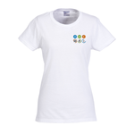Gildan 5.3 oz. Cotton T-Shirt - Ladies' - Emb - White