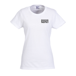 Gildan 5.3 oz. Cotton T-Shirt - Ladies' - Screen - White
