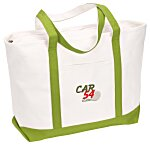 Large Heavyweight Cotton Canvas Boat Tote - Embroidered