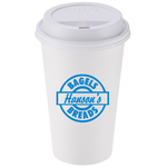 Paper Hot/Cold Cup with Traveler Lid - 16 oz. - Low Qty