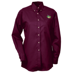 Soil Release Button Down LS Poplin Shirt - Ladies' - 24 hr