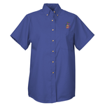 Soil Release Button Down SS Poplin Shirt - Ladies' - 24 hr
