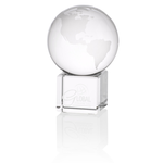 Globe Crystal Desktop Award - 3
