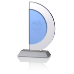 Indigo Celebration Crystal Award - Crescent