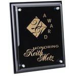 Black Finished Plaque with Jade Glass Plate - 10