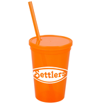 Stadium Cup with Lid & Straw - 16 oz. - Jewel