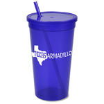 Stadium Cup with Lid & Straw - 32 oz. - Jewel