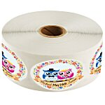 "Full Color Sticker by the Roll - Oval - 1-1/2"" x 2-1/2"""