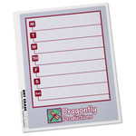 Removable Memo Board Sticker - Weekly - Executive