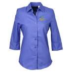 Soft Collar 3/4 Sleeve Poplin Shirt – Ladies' - 24 hr