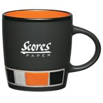 Color Block Ceramic Mug - Black - 14 oz.