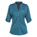 OGIO Poly Interlock Stay-Cool Henley - Ladies'