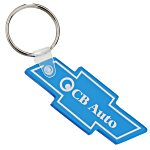 Chevy Bow Tie Soft Key Tag - Translucent