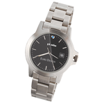Hamburg Brushed Steel Watch - Men's
