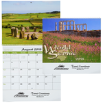 World Scenic Calendar - Spiral - 24 hr