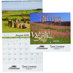 World Scenic Calendar - Stapled - 24 hr
