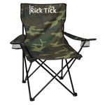 Camo Folding Chair with Carrying Bag