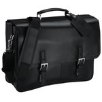 Kenneth Cole Manhattan Leather Laptop Messenger