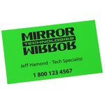 Fluorescent Business Card Magnet - Closeout