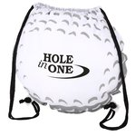 Game Time! Golf Ball Drawstring Backpack-Overstock