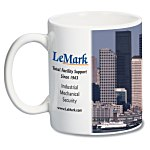 White Mug - 11 oz. -  Full Color Process