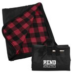 Outdoorsy Blanket - Red Black Check