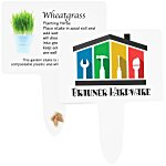 Compostable Seed Stakes - Wheatgrass
