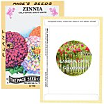 Antique Series Seed Packet - Giant Zinnia