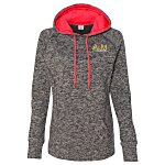 J. America - Cosmic Poly Fleece Hoodie - Ladies'-Embroidered
