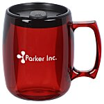 Courier Mug with Lid- 12 oz. - Translucent