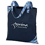 Polypro Printed Accent Tote - Herringbone